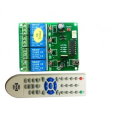 IR Remote Controlled 4 Relay switch