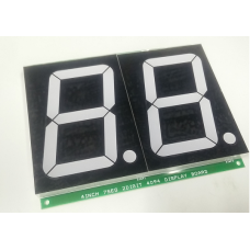 """7SEG 2 Digit Display 4"""" with SIPO based 3 Wire Control"""