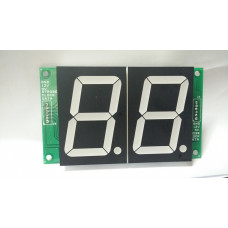 """7SEG 2 Digit Display 2.2"""" with SIPO based 3 Wire Control"""