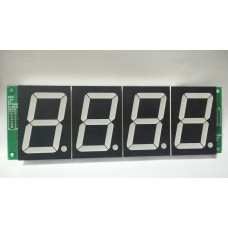 """7SEG 4 Digit Display 2.2"""" with SIPO based 3 Wire Control"""