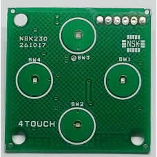 Capacitive Touch Sensor – 4 Channel – TTP223 Based
